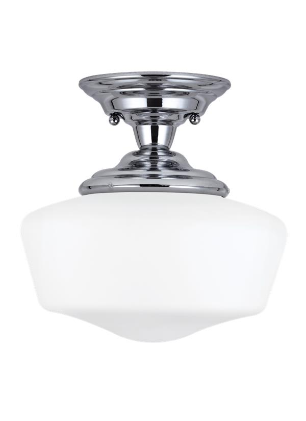 Academy Medium One Light Semi-Flush Mount